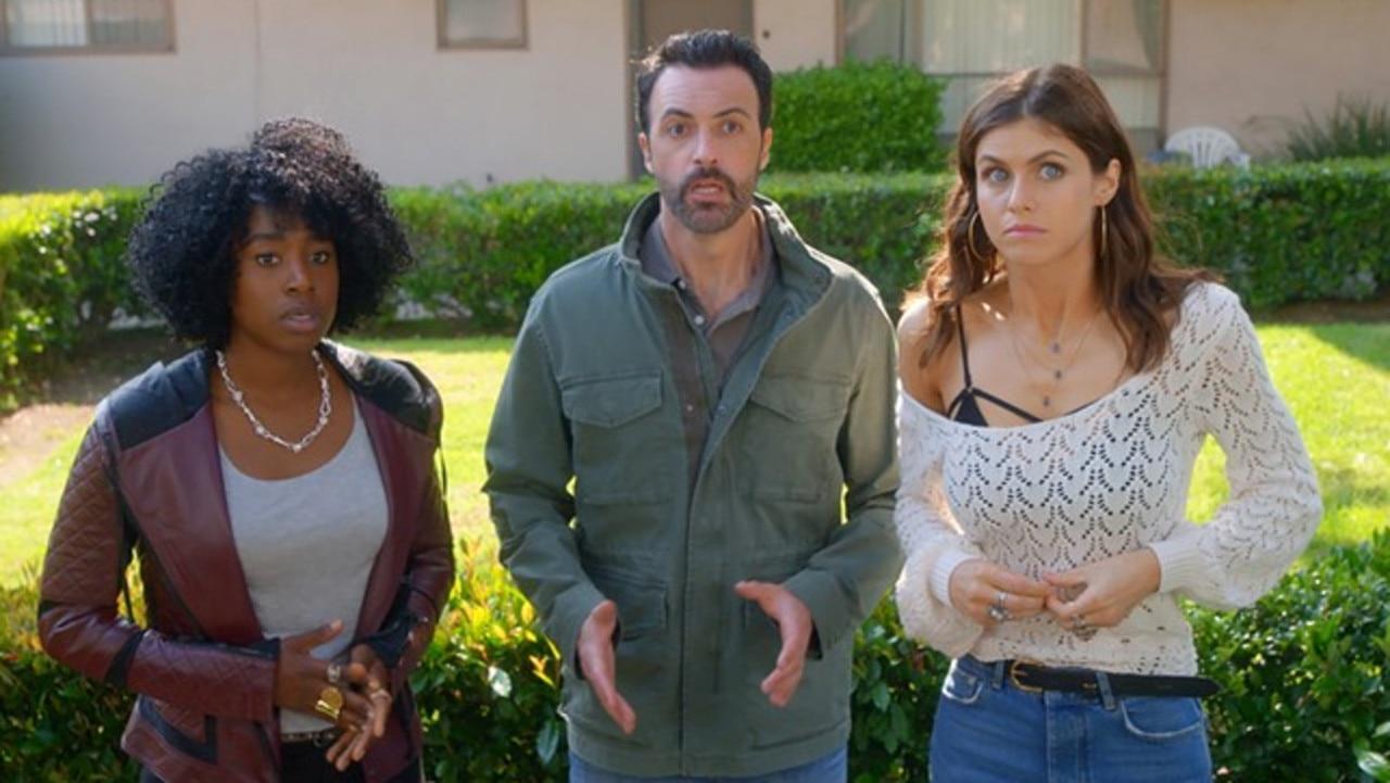 Kirby Howell-Baptiste, Reid Scott and Alexandra Daddario play a thruple in the 2019 storyline