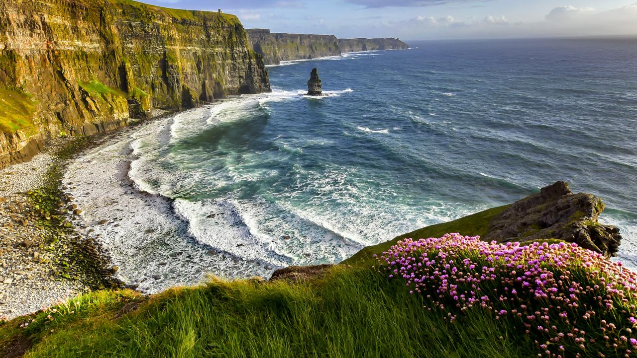 Searching for waves at the Cliffs of Moher.