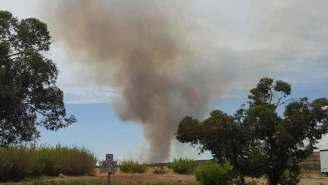 Smoke rises from the Hawker fire. Picture: Supplied