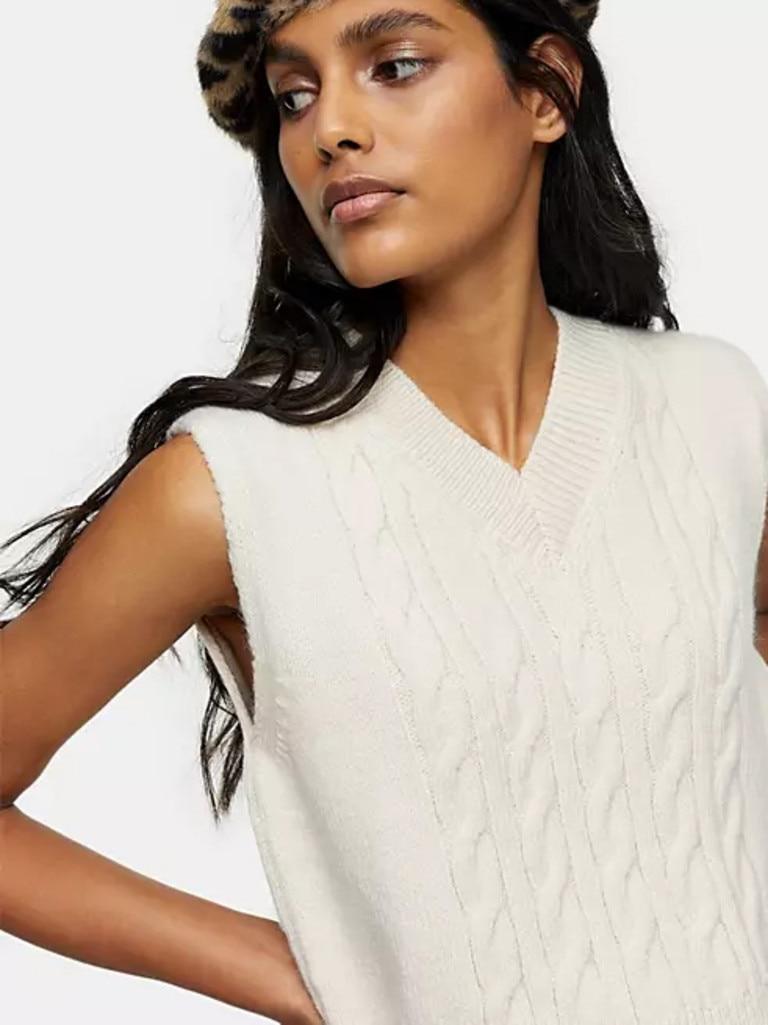 Topshop Cable Knit Vest. Image: ASOS.