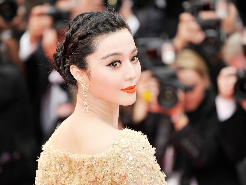 Actress Fan Bingbing went missing for four months last year. Picture: Gareth Cattermole Getty Images