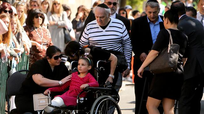 Thalia Hakin's sister Maggie, 9, was also injured in the Bourke St attack. Picture: Stuart McEvoy