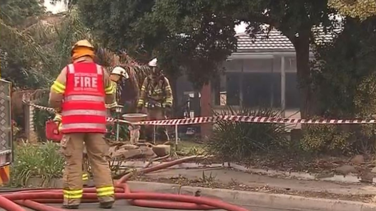 The O'Sullivan Beach home was completely gutted. Picture: Seven News