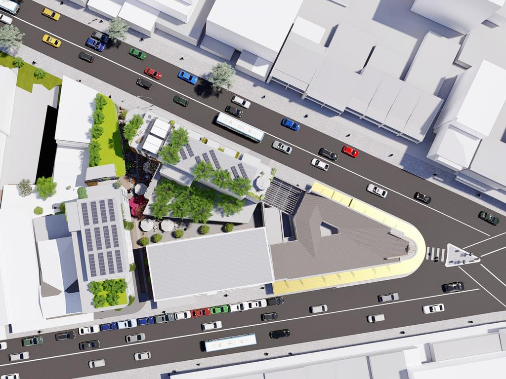 Artist's impressions of the Robin Hood redevelopment at Charing Cross