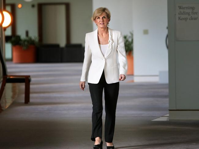 Foreign Affairs Minister Julie Bishop says the missile strike is a 'game changer'. Picture: News Corp