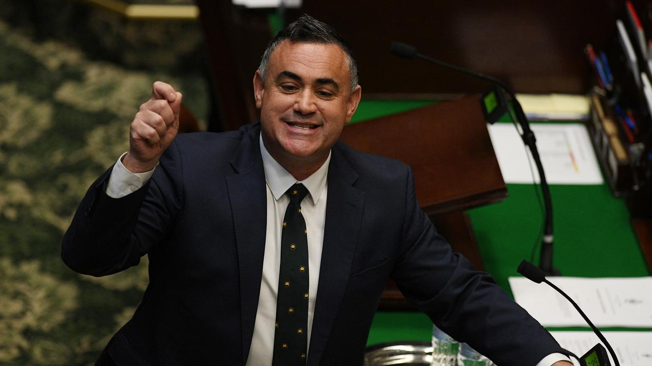 NSW Deputy Premier John Barilaro launched a foul-mouthed tirade against a cabinet colleague via text message. Picture: Dean Lewins