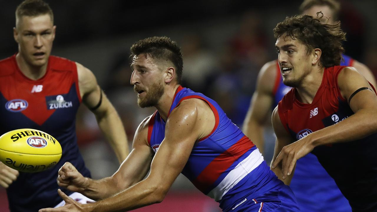 The Dogs and Demons will meet on Friday night in Round 11 (Photo by Daniel Pockett/Getty Images).