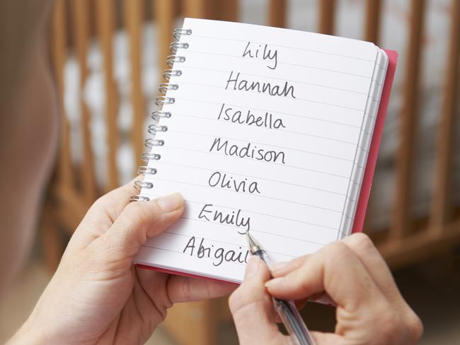 When it comes to baby names, a few haven't made the cut legally. Picture: iStock