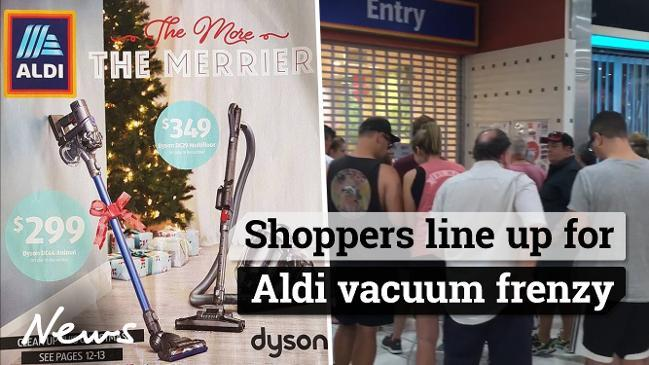 Shoppers line up for Aldi vacuum frenzy