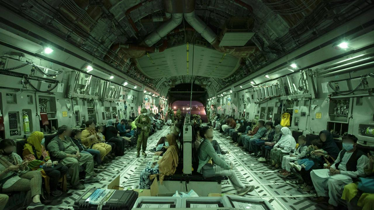 A further 450 people were evacuated from Kabul overnight. Picture: SGT Glen McCarthy / Australian Defence Force / AFP