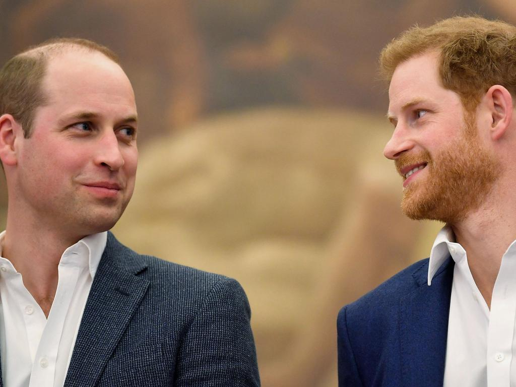 The brothers have been in a rift lately but came together on Monday for a joint statement and a family meeting about Prince Harry's future. Picture: Toby Melville / POOL / AFP