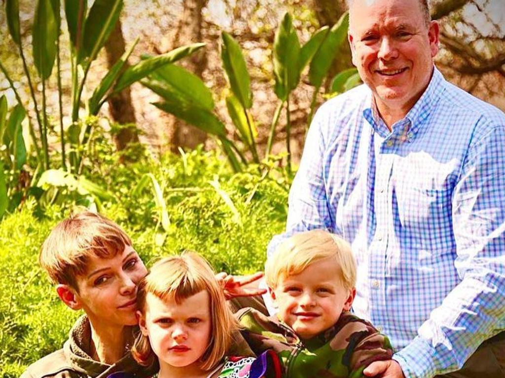 Princess Charlene of Monaco reunited with Prince Albert and kids. Picture: Instagram
