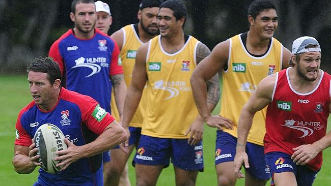 Kurt Gidley training for the Newcastle Knights. Picture Waide Maguire.