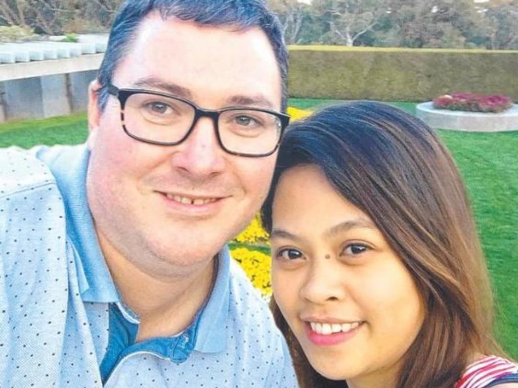 Dawson MP George Christensen pictured with his fiancee, April Asuncion.