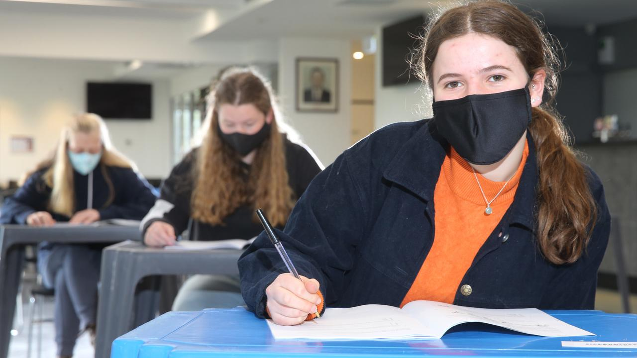 Matthew Flinders Girls Secondary College student Grace was one of thousands of VCE students who sat the GAT on Tuesday. Picture: Peter Ristevski