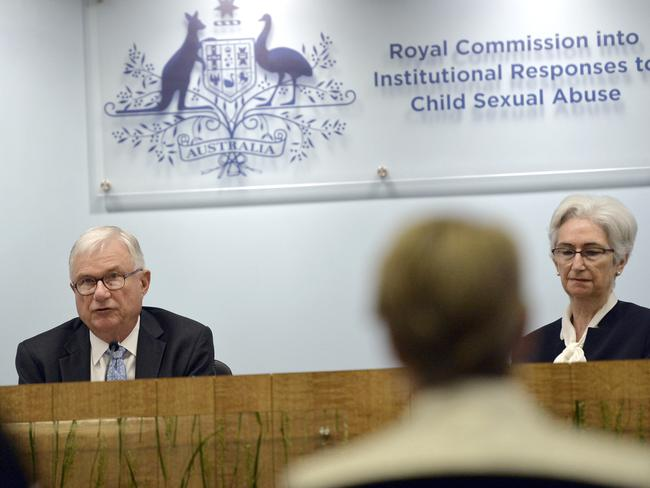 Head of the commission Justice Peter McClellan used yesterday's session to acknowledge victims and demand change. Picture: AAP/Royal Commission into Institutional Responses to Child Sexual Abuse