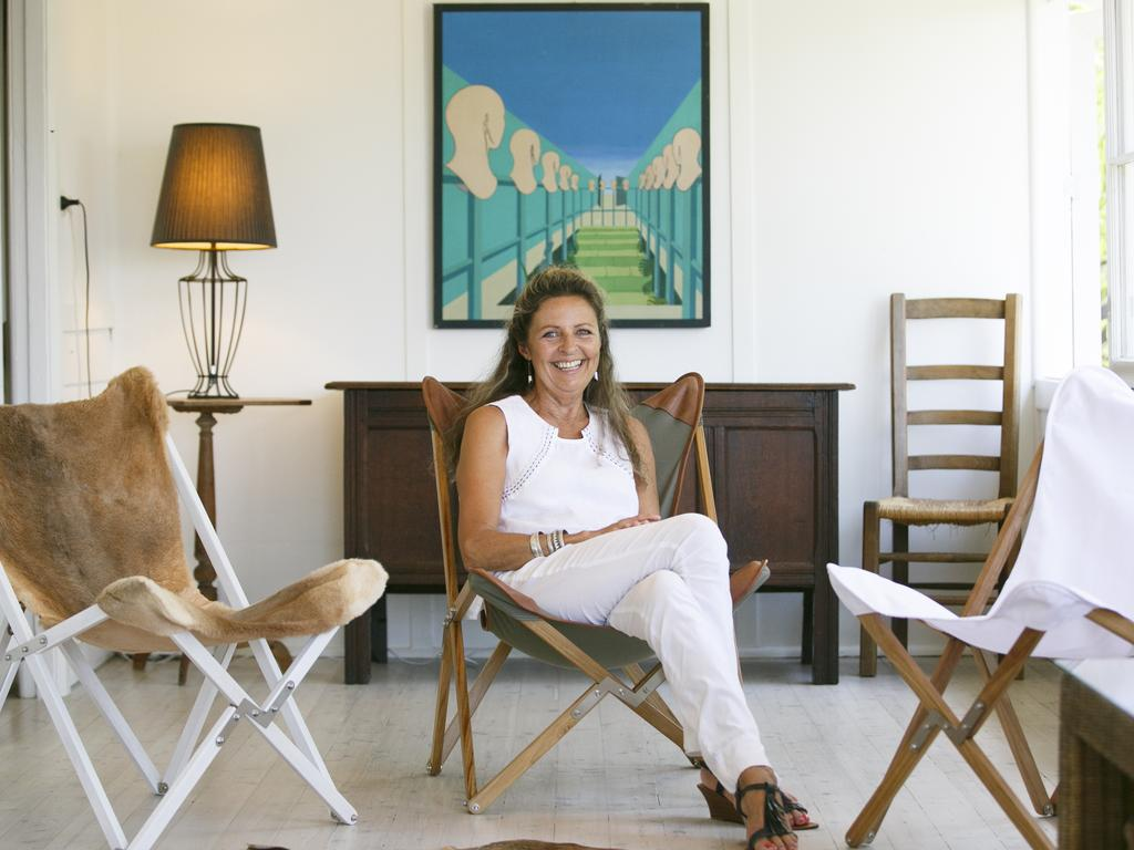 Martine Piat created a stylish campaign chair in different materials and has loved the creative suburb of Avalon Beach.