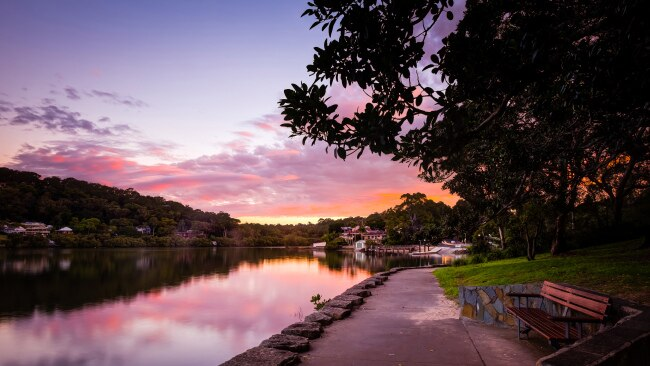 Sunset shot of Como, NSW. Picture: Getty Images
