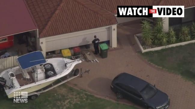 Police raid Perth properties over former Rebels bikie boss Nick Martin's murder (9 News)