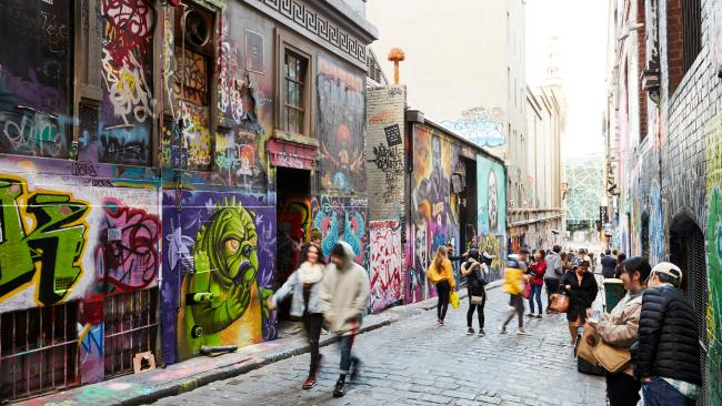 Hosier Lane - Melbourne, Australia A friendly competitive spirit amongst street artists is what makes Hosier Lane one of Melbourne's best laneways to see.Picture: Supplied