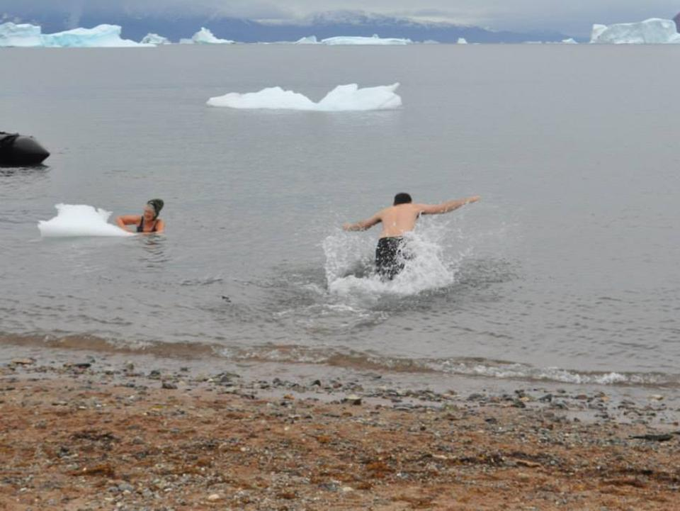 For the ultimate chill-out experience, take the polar plunge.