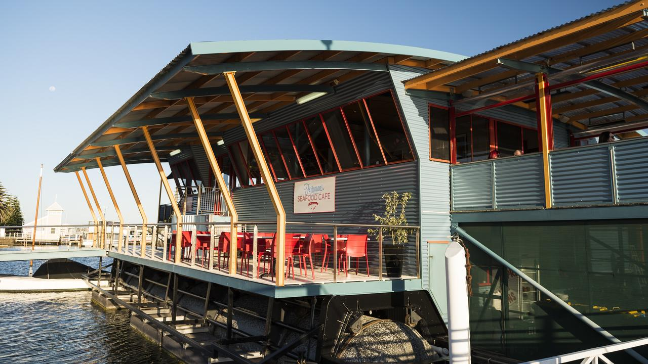 Ferryman's Seafood Cafe, on top of a floating vessel in Lakes Entrance. Picture: Destination Gippsland