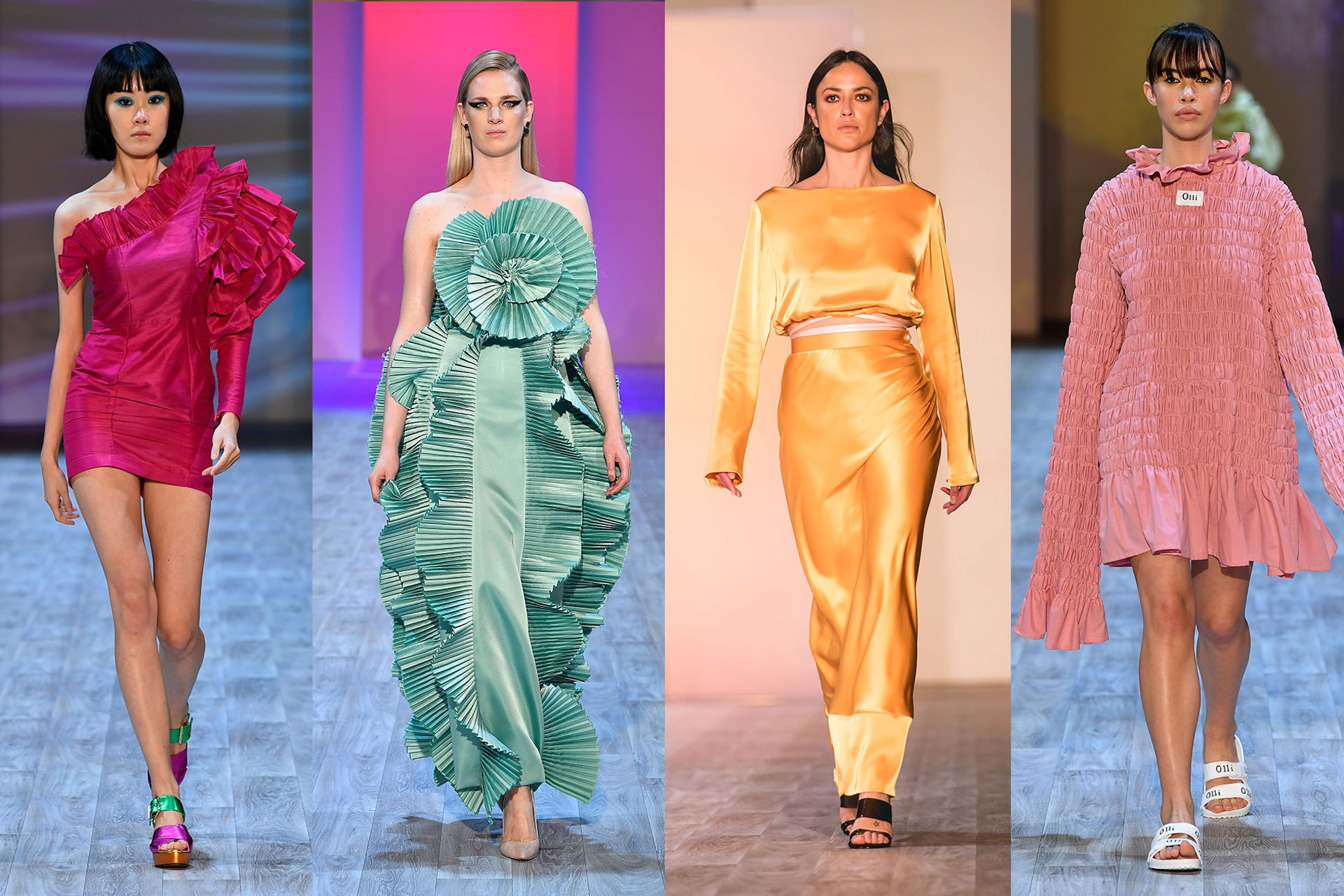 Every colour of the rainbow reigned supreme at New Zealand Fashion Week