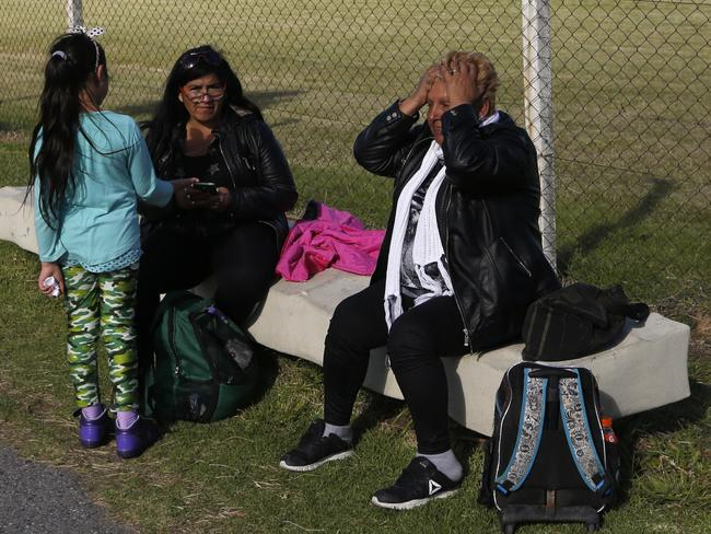Families waiting for news of loved ones at the Mar del Plata navy base know today could be the last chance for a rescue before air supply runs out. Picture: Vicente Robles / AP Photo