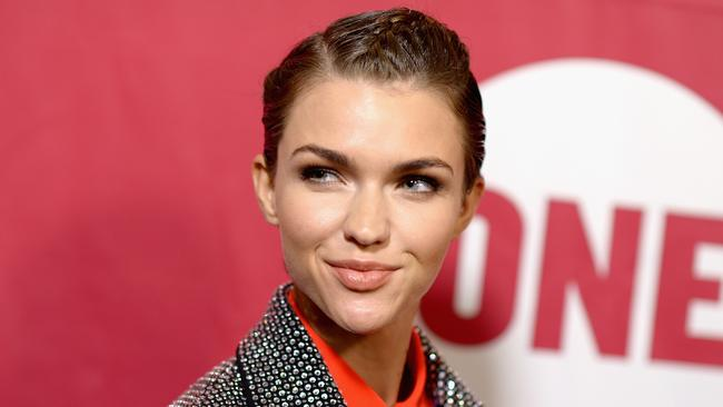 Actress Ruby Rose says she is gender fluid and does not identify strongly as a woman or a man. Picture: Dave Kotinsky/Getty Images