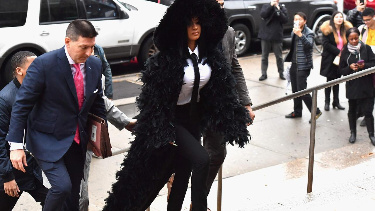 Rapper Cardi B arrives for her court hearing at Queens Criminal Court on December 10, 2019 in New York City. Picture: Angela Weiss/AFP