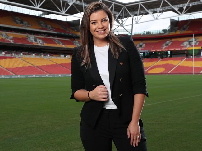Fox League presenter Yvonne Sampson will add a Saturday newspaper column to her schedule. Picture: Liam Kidston