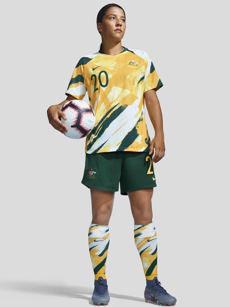Sam Kerr in the Matildas' 2019 Women's World Cup kit. Pic: Nike