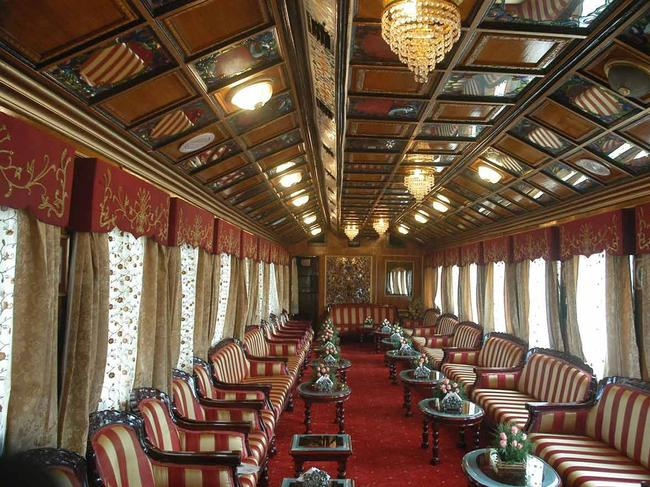 PALACE ON WHEELS, INDIA: Inspired by the personal carriages used by the Maharajahs, the aptly named Palace on Wheels is one of the most memorable ways to explore India's gems. Designed to mimic the original saloons of India's ruling elite, the stately transport was the first luxury train in the country and is still its most revered. Travelling the country north to south and east to west over 13 nights (six of which are spent on the train) passengers get prince-worthy treatment as the Palace chugs through the vibrant landscape taking in the pink state of Rajasthan and its capital, Jaipur, the blue city of Jodhpur, Ranthambore National Park, the golden citadel of Jaisalmer, bustling Delhi and Agra's iconic Taj Mahal.  thepalaceonwheels.org