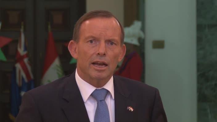 Prime Minister Abbott visits Iraq