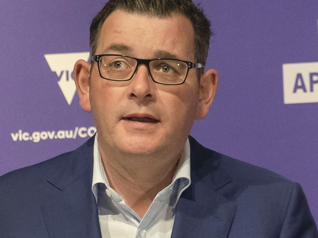 Victorian Premier Daniel Andrews has had to go back on some restrictions easing because of a spike in cases. Picture: AAP Image/Luis Ascui.