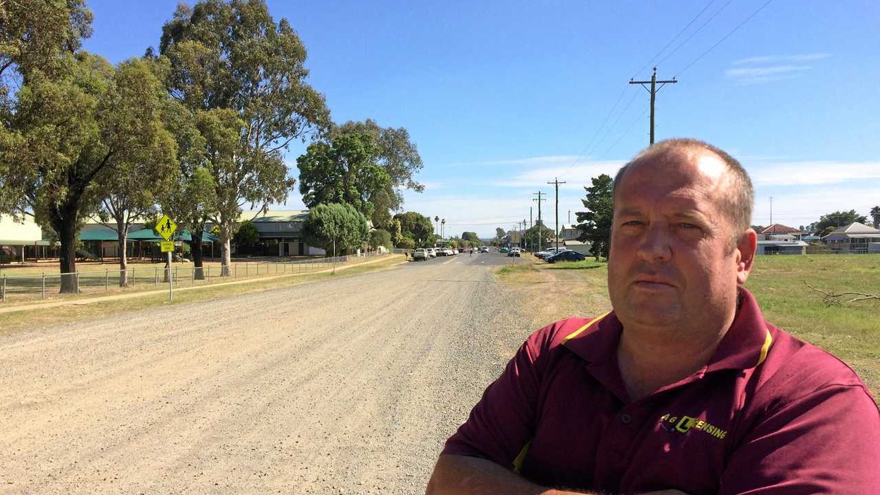 TRAFFIC JAM: Andrew Gale and the Warwick District Community Road Safety Group are concerned not enough has been done to ensure safety around the proposed Bunnings development. Picture: Jonno Colfs