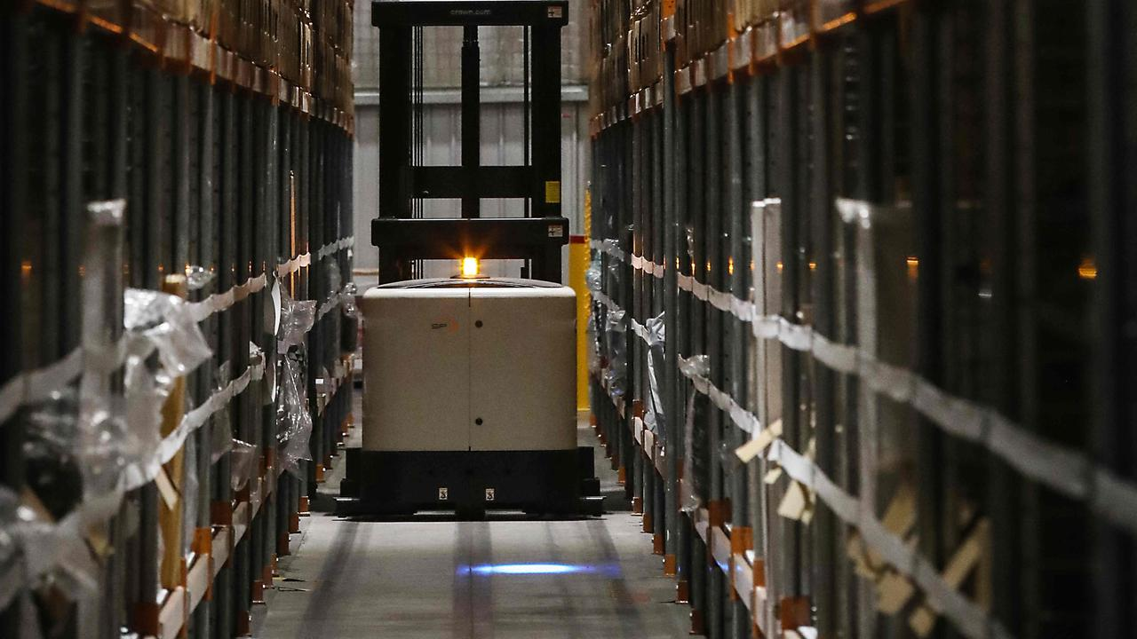 Amazon's fulfilment centre in Moorebank has over 100 employees. AAP IMAGE.