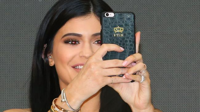 Social media star ... Kylie Jenner is ruling Snapchat, Instagram and her own self-titled app. Picture: Scott Barbour/Getty Images