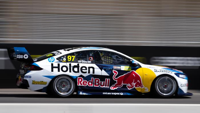 ADELAIDE, AUSTRALIA - FEBRUARY 18: (EDITORS NOTE: A polarizing filter was used for this image.) Shane van Gisbergen drives the #97 Red Bull Holden Racing Team Holden Commodore ZB during the 2020 Supercars Test Day at Tailem Bend on February 18, 2020 in Adelaide, Australia. (Photo by Daniel Kalisz/Getty Images)