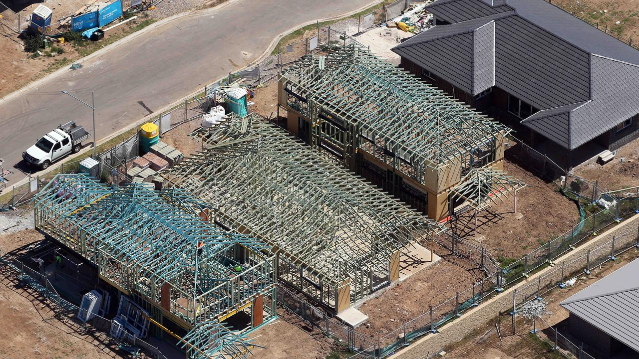 New building starts are falling across NSW.