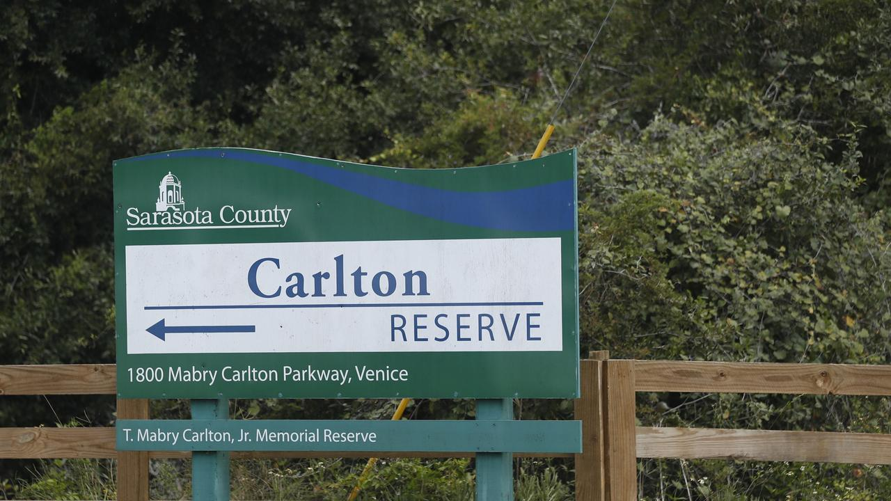 Carlton Reserve is the main search site for Brian Laundrie. Picture: Octavio Jones/Getty Images/AFP.