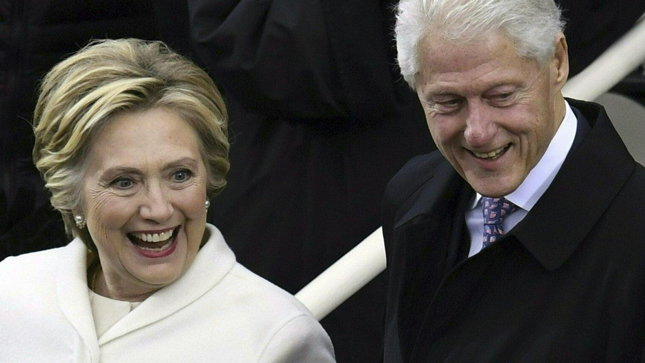 Hillary and Bill Clinton. Picture: AFP