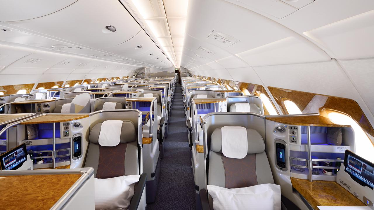 Emirates' A380 Business class interior