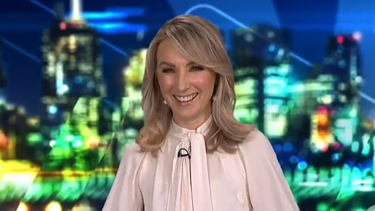 McCune said Helliar's laugh made it all worth it. Picture: Channel 10.