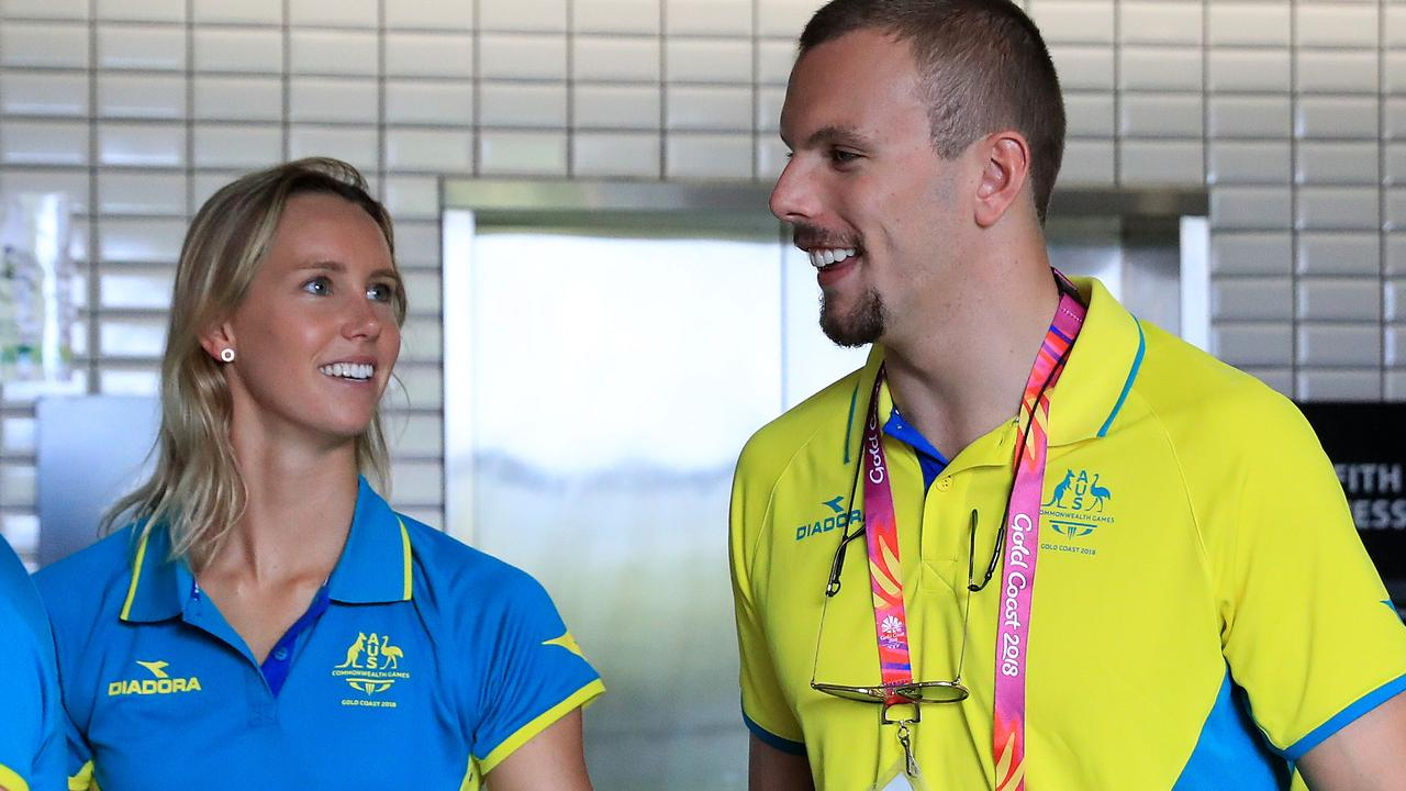 Emma McKeon and Kyle Chalmers will race for London Roar in the International Swimming League in Italy. Photo: Adam Head