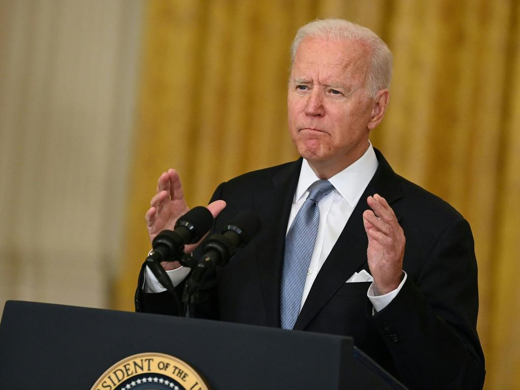 US President Joe Biden. Picture: Brendan Smialowski/AFP