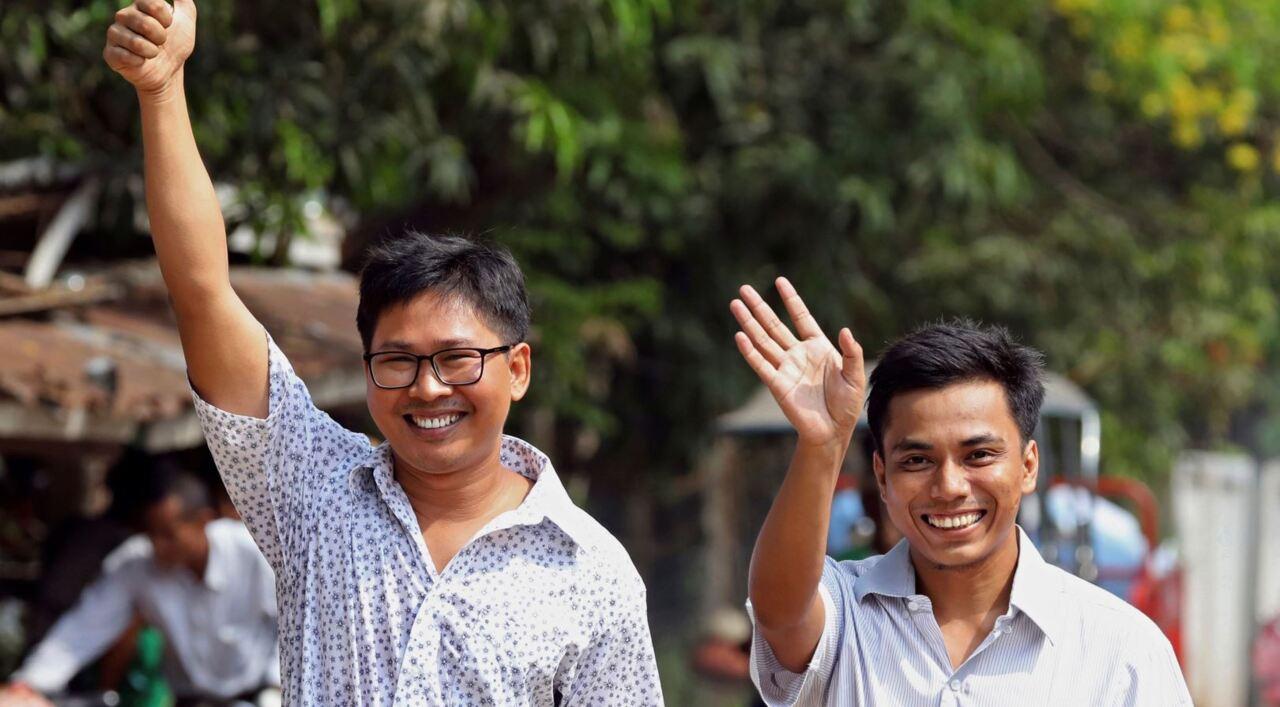 Journalists released from Myanmar prison