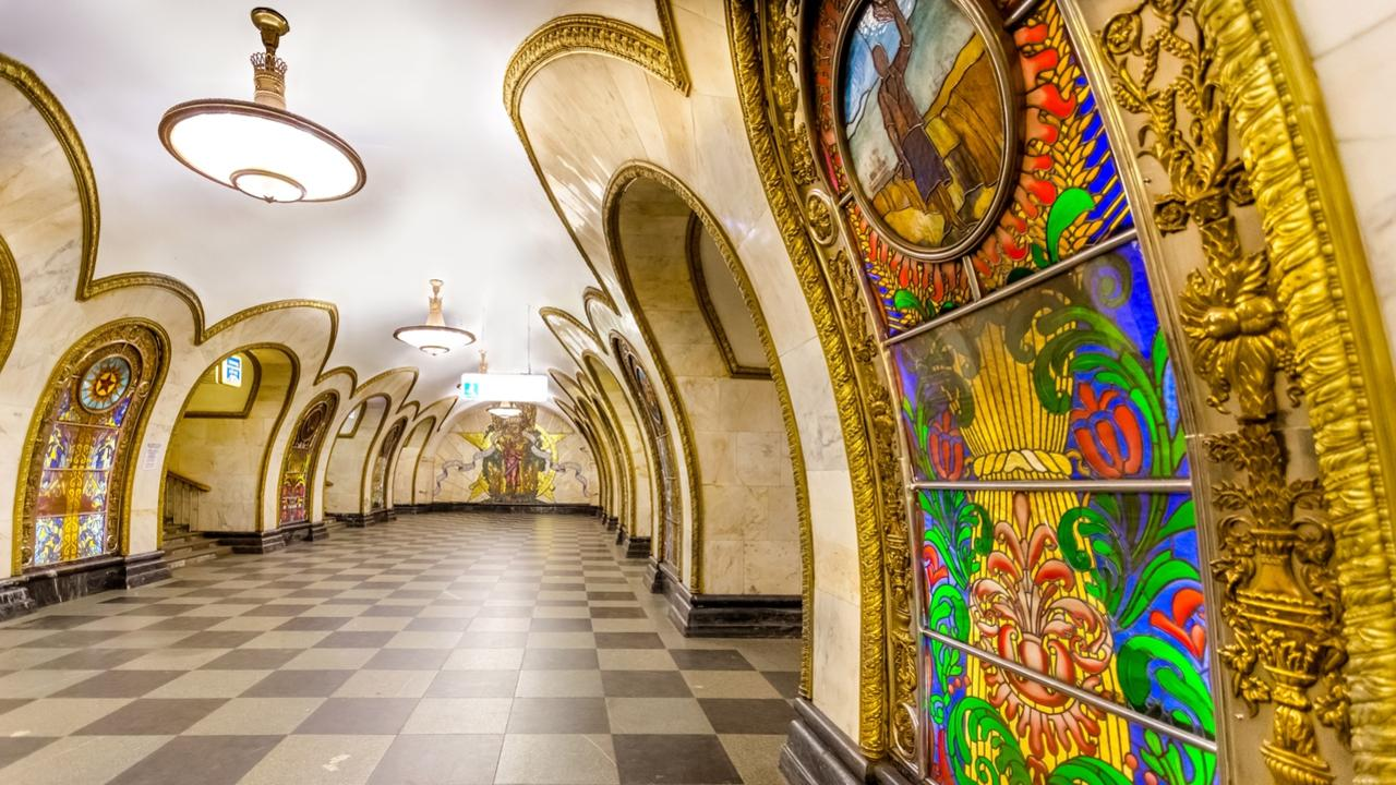 Beautiful Moscow Metro station