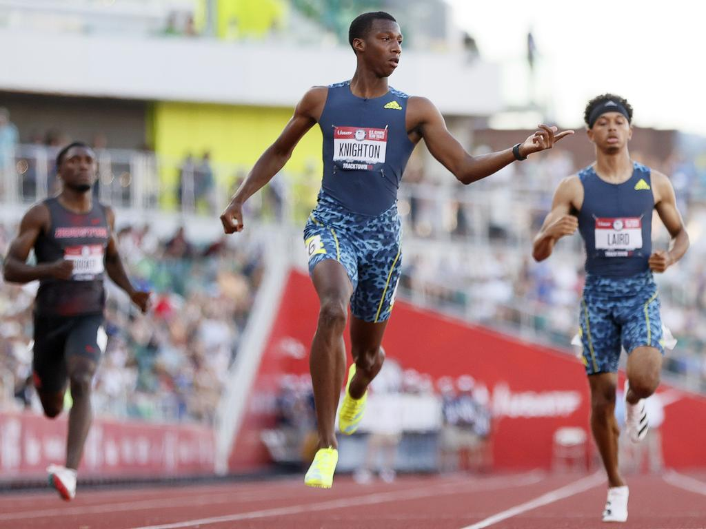 Knighton will be the youngest member of the US Track and Field team since 1964.