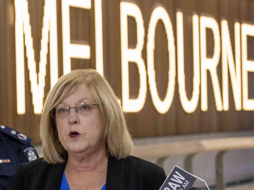 Police Minister Lisa Neville says 253 international passengers will arrive in Victoria on Monday. Picture: Ian Currie/NCA NewsWire